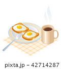 トースト たまご 卵のイラスト 42714287