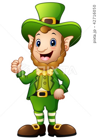 Cartoon Leprechaun giving thumbs up 42716050