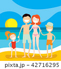 ファミリー 家庭 家族のイラスト 42716295