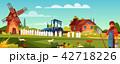 農夫 農家 農民のイラスト 42718226