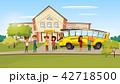 スクール 学校 バスのイラスト 42718500