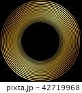 丸 渦 渦巻き 螺旋 金 筆文字 42719968