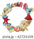 夏 ベクトル フレームのイラスト 42724109