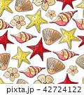 カラフル 色とりどり 貝のイラスト 42724122