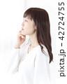 女性 女の子 ヘアスタイルの写真 42724755
