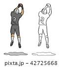 アメリカンフットボール スポーツ 人々のイラスト 42725668