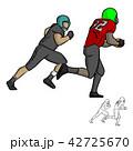 アメリカンフットボール スポーツ 人々のイラスト 42725670