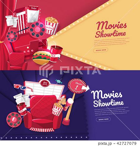 movie cinema banner designのイラスト素材 42727079 pixta