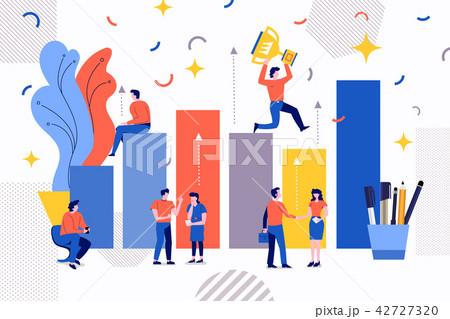 teamwork business growthのイラスト素材 42727320 pixta