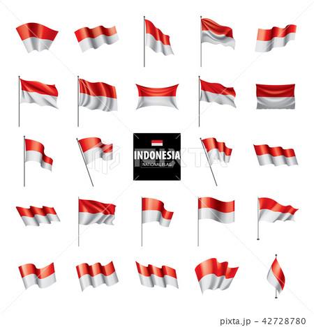 Indonesia flag, vector illustration 42728780