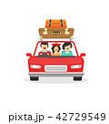 車 自動車 ファミリーのイラスト 42729549