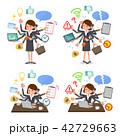 女性 ビジネス 会社員のイラスト 42729663