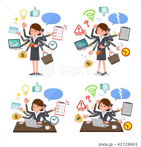 flat type Gray business women_mulch task 42729663