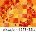 紅葉 秋 和柄のイラスト 42734331