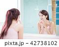 女性 メス 鏡の写真 42738102