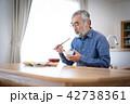 シニア 食事 1人暮らしの写真 42738361