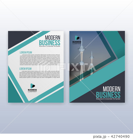 multipurpose modern business cover flyer templateのイラスト素材