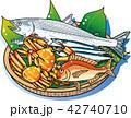 秋の魚の味覚 42740710