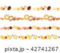 焼き菓子の飾り罫 42741267