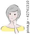女性 シニア 困惑のイラスト 42741310