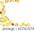 焼き菓子の背景 42741374
