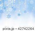 クリスマス 雪の結晶 クリスマス飾りのイラスト 42742264