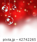 クリスマス クリスマス背景 雪の結晶 雪 結晶 サンタクロース 42742265
