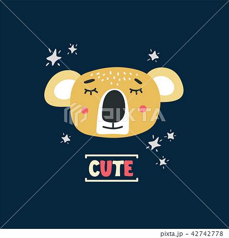 Cute koala head vector illustration 42742778