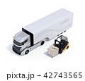 電動トラックと電動フォークリフトのイメージ 42743565