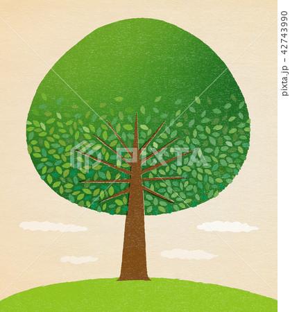 緑の木01 版画風 42743990