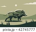 ワイルド 野生 野生動物のイラスト 42745777