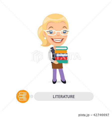 Female Teacher of Literature with Books 42746697