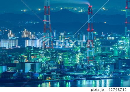 工場夜景【福岡県北九州市】 42748712