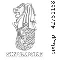 Singapore merlion icon 42751168