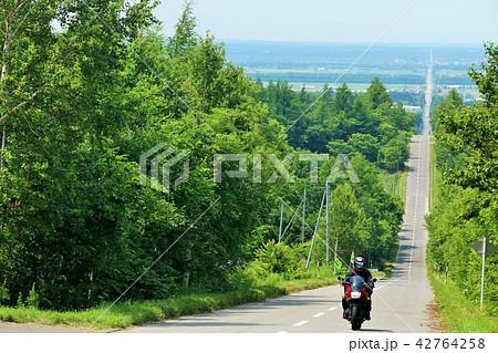 北海道 天に続く道 42764258