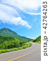 晴れ 羅臼岳 峠道の写真 42764263
