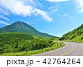 晴れ 羅臼岳 峠道の写真 42764264