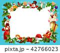 クリスマス フレーム xマスのイラスト 42766023