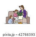 家族 ソファ 人物のイラスト 42766393