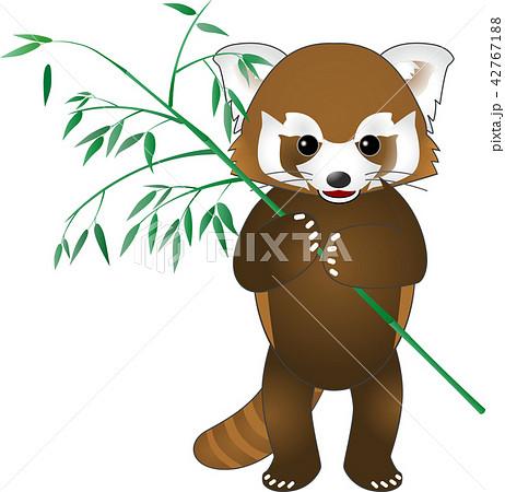 レッサーパンダ (アライグマと笹) ベクター 42767188