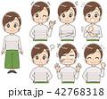 女性 セット 表情のイラスト 42768318