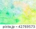 水彩 水彩風 にじみのイラスト 42769573