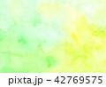 水彩 水彩風 にじみのイラスト 42769575