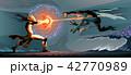 エルフ けもの モンスターのイラスト 42770989