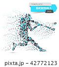 ベースボール 野球 ベクタのイラスト 42772123