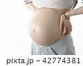妊娠 女性 お腹の写真 42774381