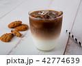 アイスカフェオレ コーヒー アイスコーヒーの写真 42774639