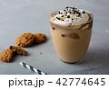 アイスカフェオレ コーヒー アイスコーヒーの写真 42774645