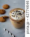 アイスカフェオレ コーヒー アイスコーヒーの写真 42774646