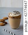 アイスカフェオレ コーヒー アイスコーヒーの写真 42774647